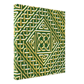 El cuadrado verde del oro forma el modelo de lona envuelta para galerias