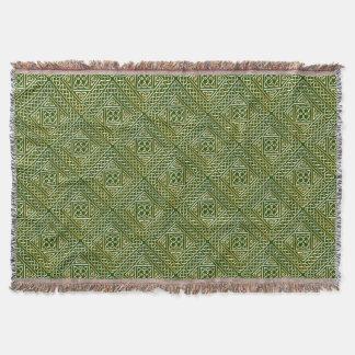 El cuadrado verde del oro forma el modelo de manta