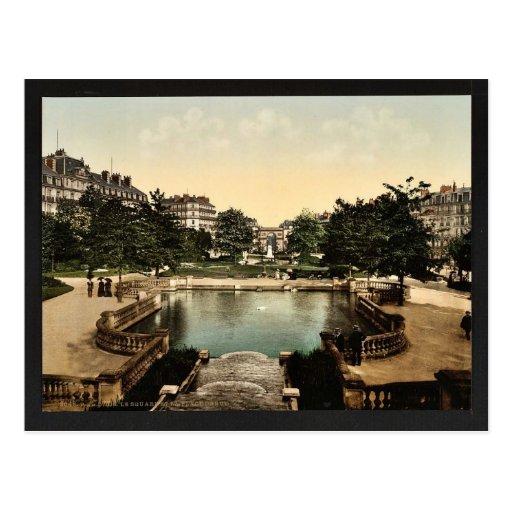 El cuadrado y el lugar D'Arcy, cla de Dijon, Franc Tarjeta Postal