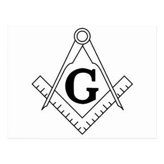 El cuadrado y el símbolo del Freemasonry de los co Tarjeta Postal