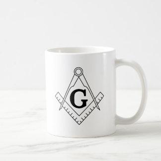El cuadrado y el símbolo del Freemasonry de los co Taza De Café