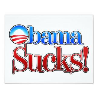 """El cuartel Obama chupa Invitación 4.25"""" X 5.5"""""""