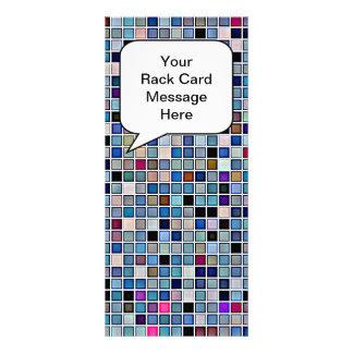 """El """"cuarto de baño azul enrrollado apenado teja"""" e tarjetas publicitarias"""