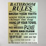 El cuarto de baño gobierna el poster del arte del