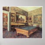 El cuarto de billar en Menil-Huberto, 1892, desgas Poster