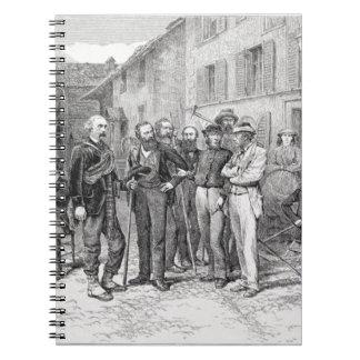 """El cuarto de club de Zermatt en 1864, """"de la subid Spiral Notebook"""