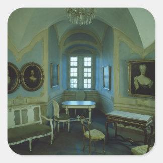 El cuarto de Cosel, Burg Stolpen, c.1100 Pegatina Cuadrada