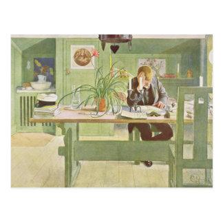 """El cuarto de estudio, pub. en """"Lasst Licht Hinin"""" Postal"""