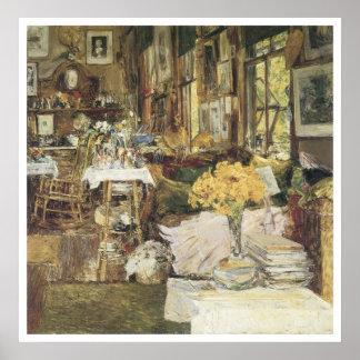 El cuarto de flores Childe 1894 Hassam Posters