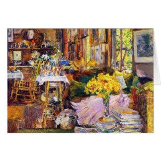 El cuarto de flores tarjetón