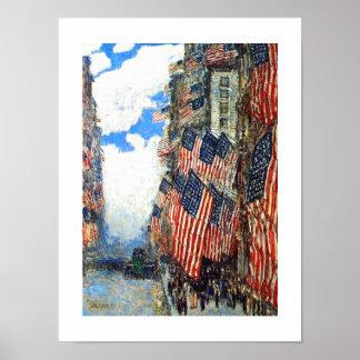 El cuarto de julio c 1916 Poster de la bella a