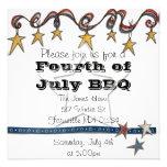 El cuarto de julio invita comunicados personalizados