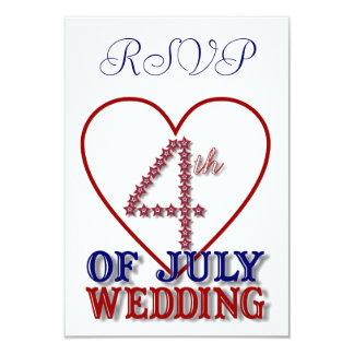"""El cuarto de julio protagoniza la tarjeta invitación 3.5"""" x 5"""""""