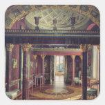 El cuarto de la ágata en el palacio de Catherine Pegatina Cuadrada