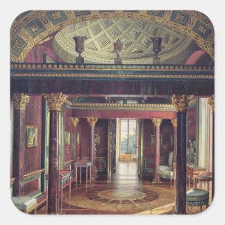 El cuarto de la ágata en el palacio de Catherine Calcomania Cuadradas Personalizadas