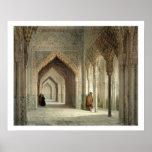 El cuarto de la corte de Alhambra, Granada, 1853 ( Posters