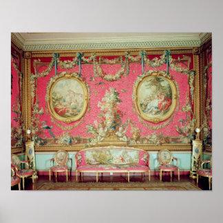 El cuarto de la tapicería, c.1763 póster
