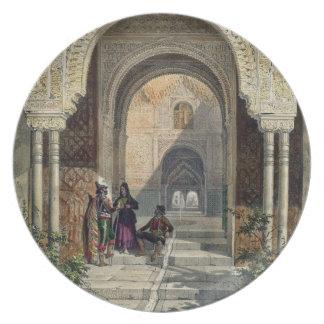 El cuarto de las dos hermanas en Alhambra, Grana Plato De Cena