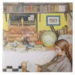 """El cuarto de lectura, pub. en """"Lasst Licht Hinin""""  Azulejos"""
