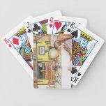 """El cuarto de lectura, pub. en """"Lasst Licht Hinin""""  Baraja Cartas De Poker"""