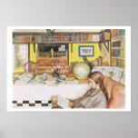 """El cuarto de lectura, pub. en """"Lasst Licht Hinin""""  Poster"""