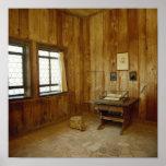 El cuarto de Luther en el castillo de Wartburg Póster