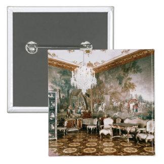 El cuarto de Napoleon en el palacio de Schonbrunn Pin Cuadrado