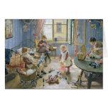 El cuarto de niños, 1889 felicitaciones