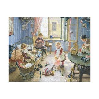El cuarto de niños, 1889 impresión en lona estirada