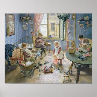 El cuarto de niños, 1889 póster