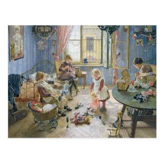 El cuarto de niños, 1889 tarjeta postal