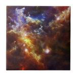 El cuarto de niños estelar de la nebulosa del rose azulejos ceramicos