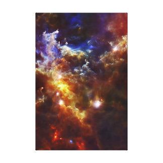 El cuarto de niños estelar de la nebulosa del rose impresión en lona estirada