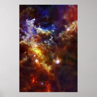 El cuarto de niños estelar de la nebulosa del rose poster