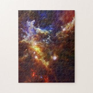 El cuarto de niños estelar de la nebulosa del rose rompecabezas con fotos