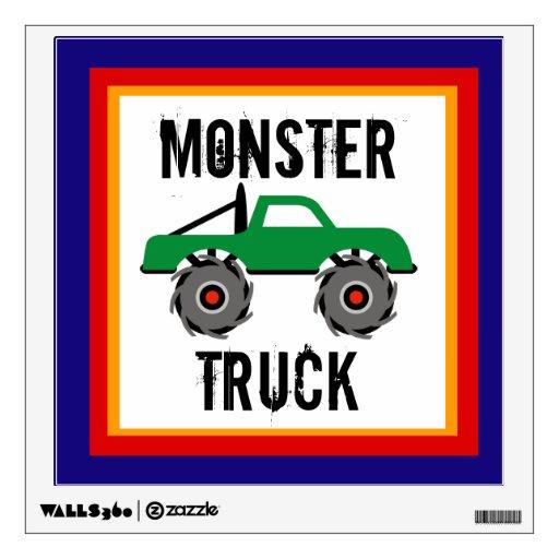 El cuarto de niños fresco del monster truck embrom