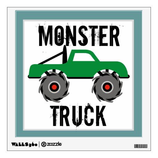El cuarto de niños fresco del monster truck vinilo adhesivo
