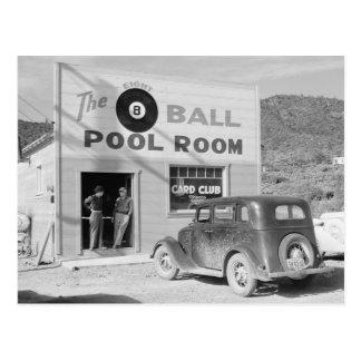 El cuarto de piscina de ocho bolas, 1940 postales