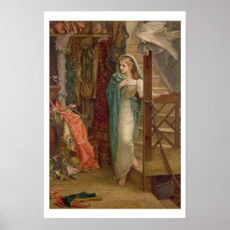 El cuarto de propiedad, 1879 (aceite en lona) póster