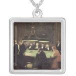 El cuarto del juego en el casino, 1889 collar