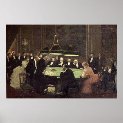 El cuarto del juego en el casino, 1889 impresiones
