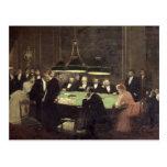 El cuarto del juego en el casino, 1889 postal