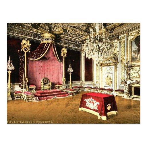 El cuarto del trono, palacio de Fontainebleau, cla Tarjetas Postales