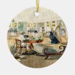 El cuarto del verano en la casa del artista en Pat Adornos De Navidad