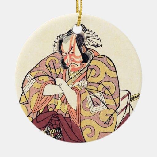 El cuarto Ichikawa Danjuro como Arakawataro Makezu Adorno Para Reyes