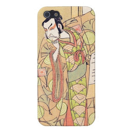 El cuarto Ichikawa Danjuro como samurai del alto iPhone 5 Funda