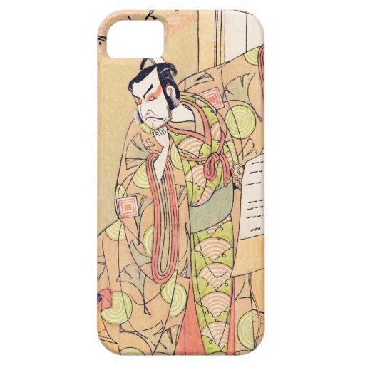 El cuarto Ichikawa Danjuro como samurai Shunsho iPhone 5 Fundas