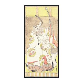 El cuarto Ichikawa Danjuro en el papel de Otomo n Impresiones En Lienzo Estiradas