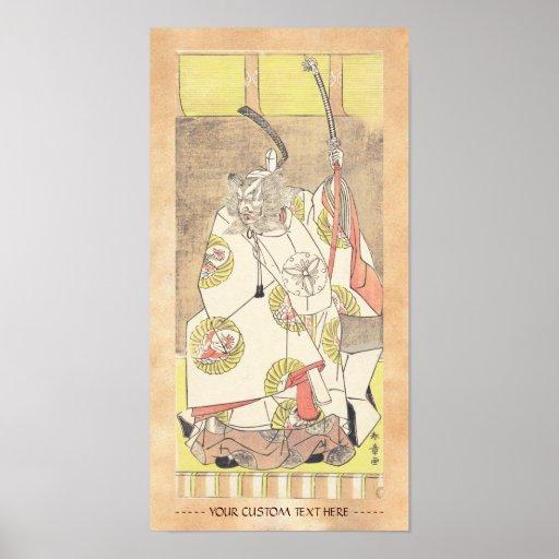 El cuarto Ichikawa Danjuro en el papel de Otomo n Posters