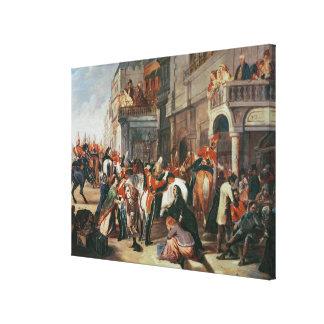 El cuarto irse de los guardias del Dragoon Lona Envuelta Para Galerías